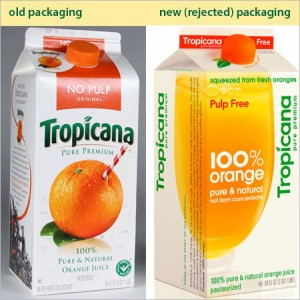 Tropicana orange juice packaging